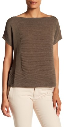 Lafayette 148 New York Ribbed Sweater Tee $328 thestylecure.com