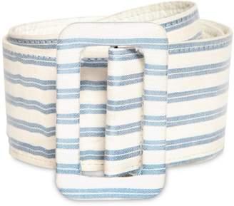 Luisa Beccaria Striped Linen Blend Belt