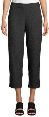 Eileen Fisher Melange Knitted Twill Wool Crop Pants