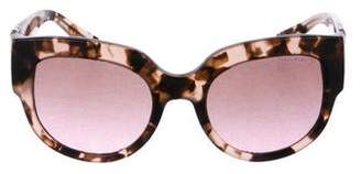Michael Kors Round Gradient Sunglasses
