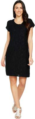 Isaac Mizrahi Live! Short Sleeve Floral Burnout T-Shirt Dress