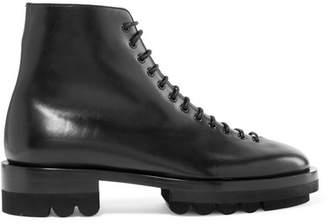 Jil Sander Leather Ankle Boots - Black