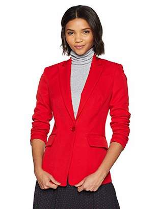 Milly Women's Stretch Crepe Fashion Long Sleeve Fitted Blazer