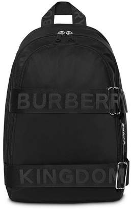 Burberry large logo strap backpack