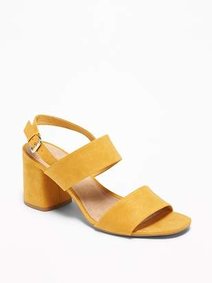 6cb9aac80 Old Navy Faux-Suede Slingback Block-Heel Sandals for Women