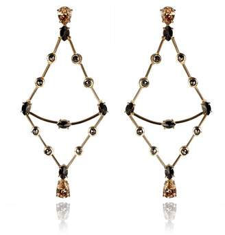 ara Vartanian Brown Diamonds Earrings