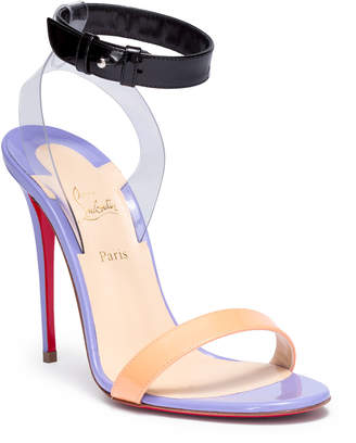 Christian Louboutin Jonatina 100 multi-tone patent leather sandals