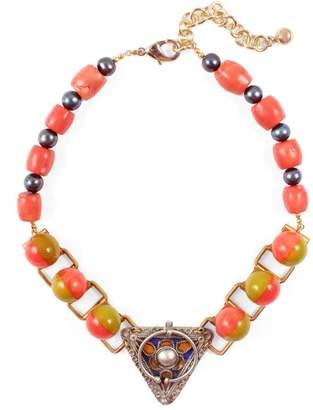 Lulu Frost Vintage Moroccan Enamel Pendant Necklace