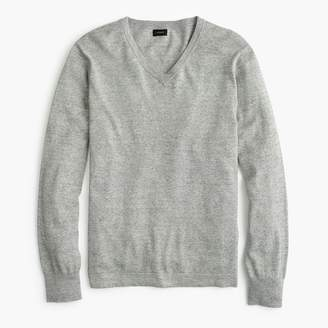 J.Crew Cotton solid V-neck sweater