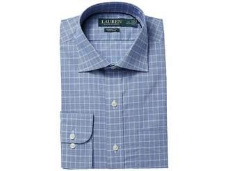 Lauren Ralph Lauren Slim Fit No-Iron Cotton Dress Shirt Men's Long Sleeve Button Up