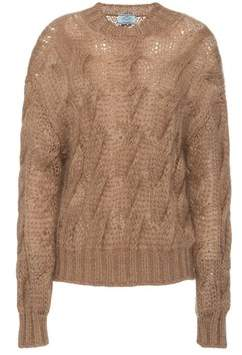 Prada Oversized Mohair Wool Sweater