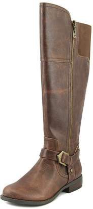 GUESS G by Womens Hailee wide calf Round Toe Knee High Fashion, Brown, Size 7.0