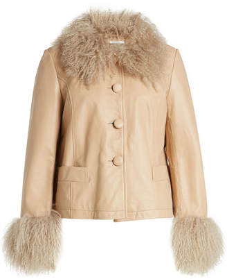 Saks Potts Leather Jacket with Lamb Fur