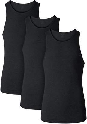 4db3c3b9d739a David Archy Men s 3 Pack 100% Cotton Classic Rib Tank Top Sleeveless  Undershirts(XL