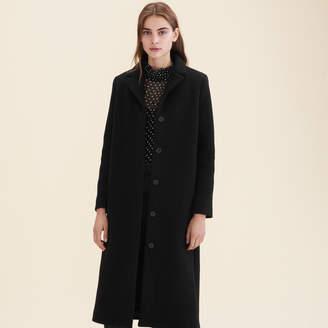Maje Long wool-blend coat
