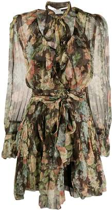 Zimmermann Espionage ruffle wrap dress dress