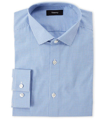 American Designer Blue Gingham Dress Shirt