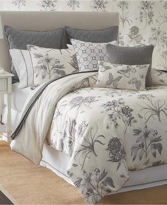 Sanderson Etching & Roses Printed 4-Pc. King Comforter Set Bedding