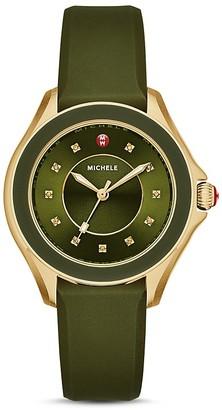 MICHELE Cape Topaz-Studded Watch, 38mm $345 thestylecure.com
