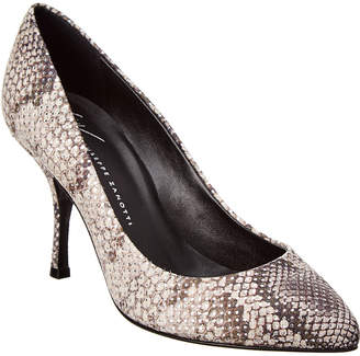 f33b214c669e Giuseppe Zanotti Snake-Embossed Leather Pump