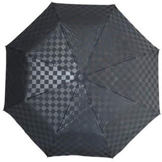 Checkerboard print umbrella