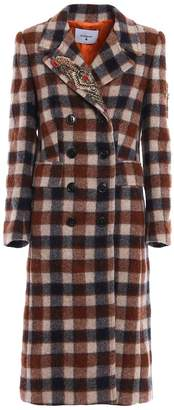 Dondup Double Breasted Checkered Coat
