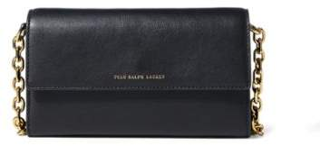 Ralph Lauren Nappa Leather Chain Wallet Black One Size