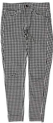 Rag & Bone Gingham Mid-Rise Skinny Pants