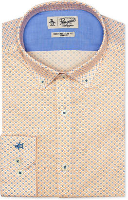 Original Penguin Original Men's Heritage Slim-Fit Comfort Stretch Flower Print Dress Shirt