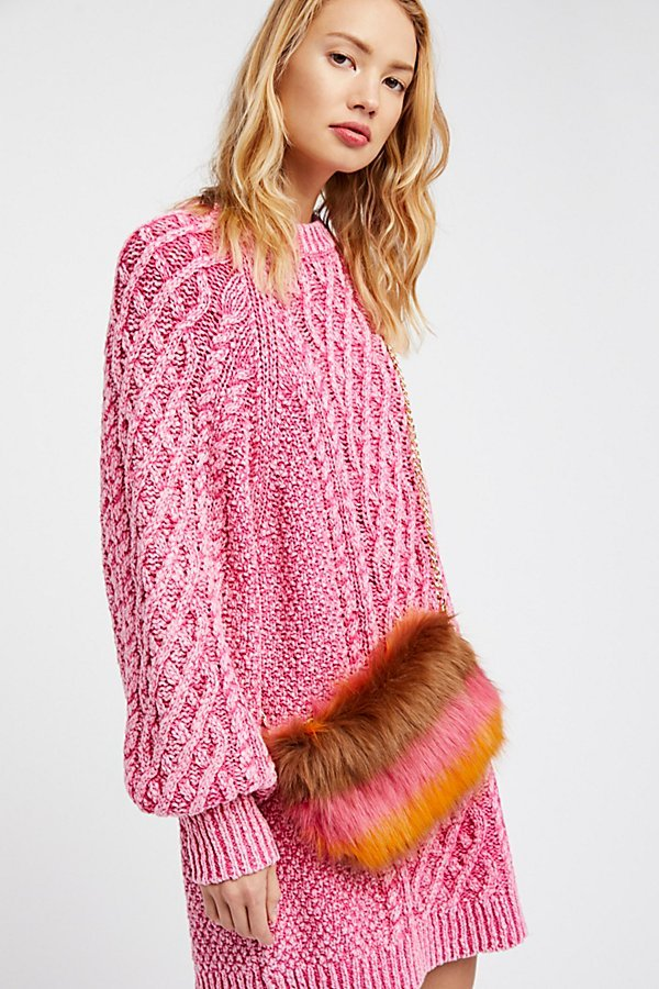 Striped Faux Fur Crossbody by Free People