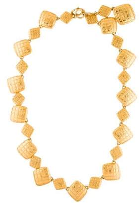 Chanel Quilted Pendant Necklace