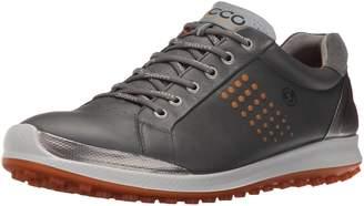 Ecco Shoes Men's Biom Hybrid 2 Golf Shoes, Dark Shadow/Orange