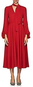 Co Women's Crepe A-Line Midi-Dress - Red