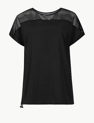 Marks and Spencer Striped Quick Dry Short Sleeve Top