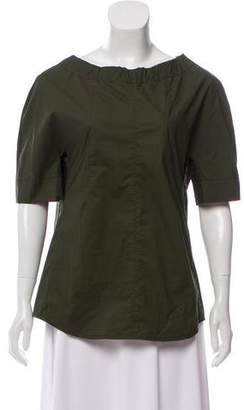 Marni Tie-Accented Short Sleeve Top w/ Tags