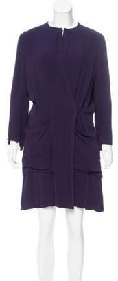 Ann Demeulemeester Crepe Wrap Dress