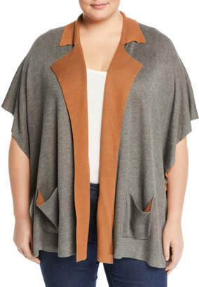 0e4eb2e012c Bobeau Plus Cardi Liya Double-Face Short-Sleeve Cardigan Plus Size