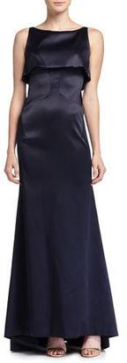 Zac Posen Sateen Double-Layer Gown, Midnight $4,990 thestylecure.com