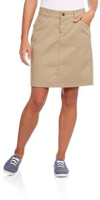 Dickies Genuine Women's Button Front Blended Twill Skirt