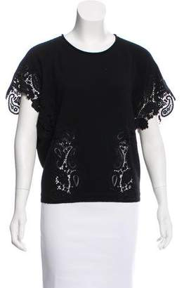 Chloé Lace-Trimmed Cashmere Sweater