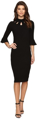 Christin Michaels Asha Bell Sleeve Keyhole Midi Dress $98 thestylecure.com