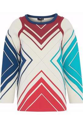 Anya Hindmarch Paneled Neoprene And Cotton-Terry Sweatshirt