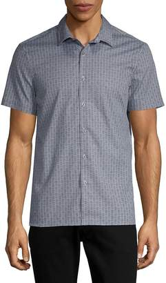 Perry Ellis Men's Slim-Fit Printed Button-Down Shirt