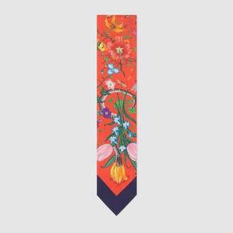 Gucci Flora Snake print neck bow