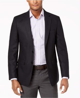 Calvin Klein Men's Slim-Fit Charcoal Neat Sport Coat