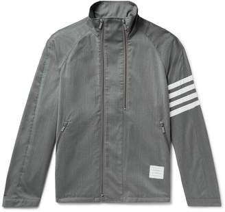 Thom Browne Striped Wool Jacket - Men - Gray