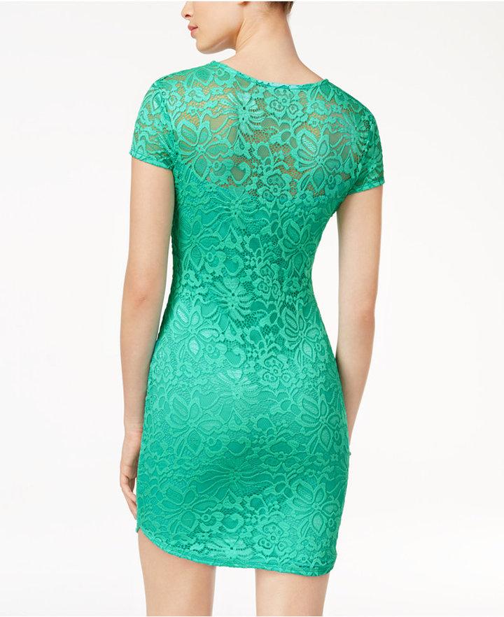 B. Darlin Juniors' Lace Bodycon Dress