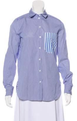 Celine Striped Button Top