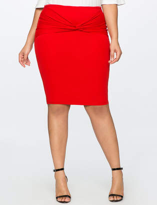 Twist Front Pencil Skirt