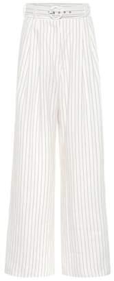 Zimmermann Corsage striped linen pants